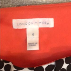 London Times Dresses - London Times Brown and White Dress Size 4